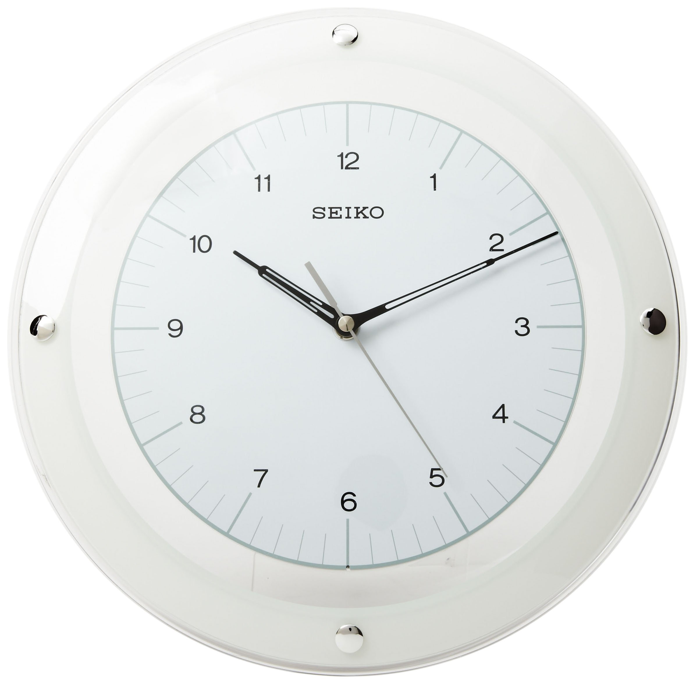 Seiko Wall Quiet Sweep Second Hand Clock Curved Glass