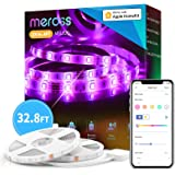 Smart LED Strip Lights Works with Apple HomeKit, 32.8ft WiFi RGB Strip, Compatible with Siri, Alexa&Google and SmartThings, A