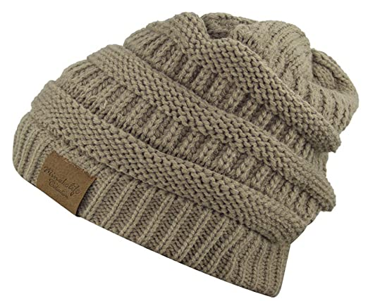3c36d08d6 MINAKOLIFE Soft Slouchy Hat Extra Long Cable Knit Beanie Cap