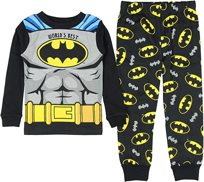 Batman Little Boys Long Sleeve Pajama Top 2pc Pajama Pant Set