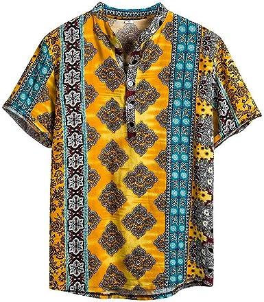 Camisa Hawaiana Hombre Estampada Funky Camisas Manga Corta Hawaii Shirt Funky Camisa Hawaiana señores Manga Corta impresión de Hawaii Playa Camisas Hombre Verano Polos Manga Corta Hombre Camiseta: Amazon.es: Ropa y accesorios
