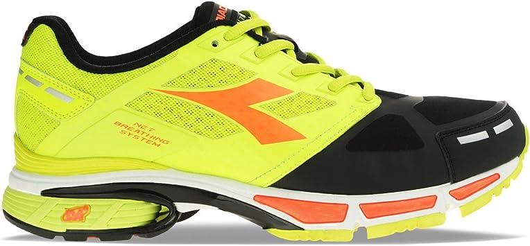 Diadora - Zapatillas para Hombre Giallo Fluo/Nero 41 EU (7.5 UK): Amazon.es: Zapatos y complementos