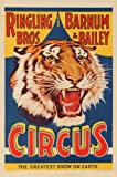Ringling Bros and Barnum and Bailey Circus (tiger head) Vintage Poster USA (12x18 Art Print, Wall Decor Travel Poster)