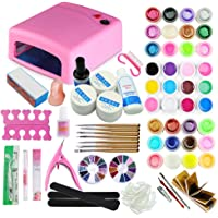 Coscelia 36 Watt Lampe UV Pour Ongle Séchoir 36 Couleur Gel UV Ongles Decoration Nail Art Manucure Kit#278
