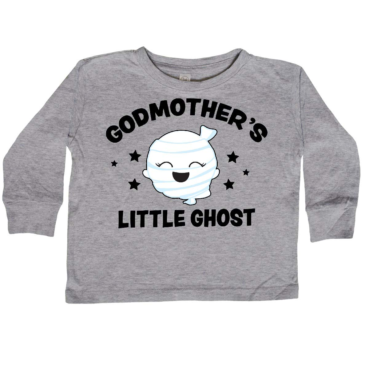 inktastic Cute Godmothers Little Ghost with Stars Toddler Long Sleeve T-Shirt