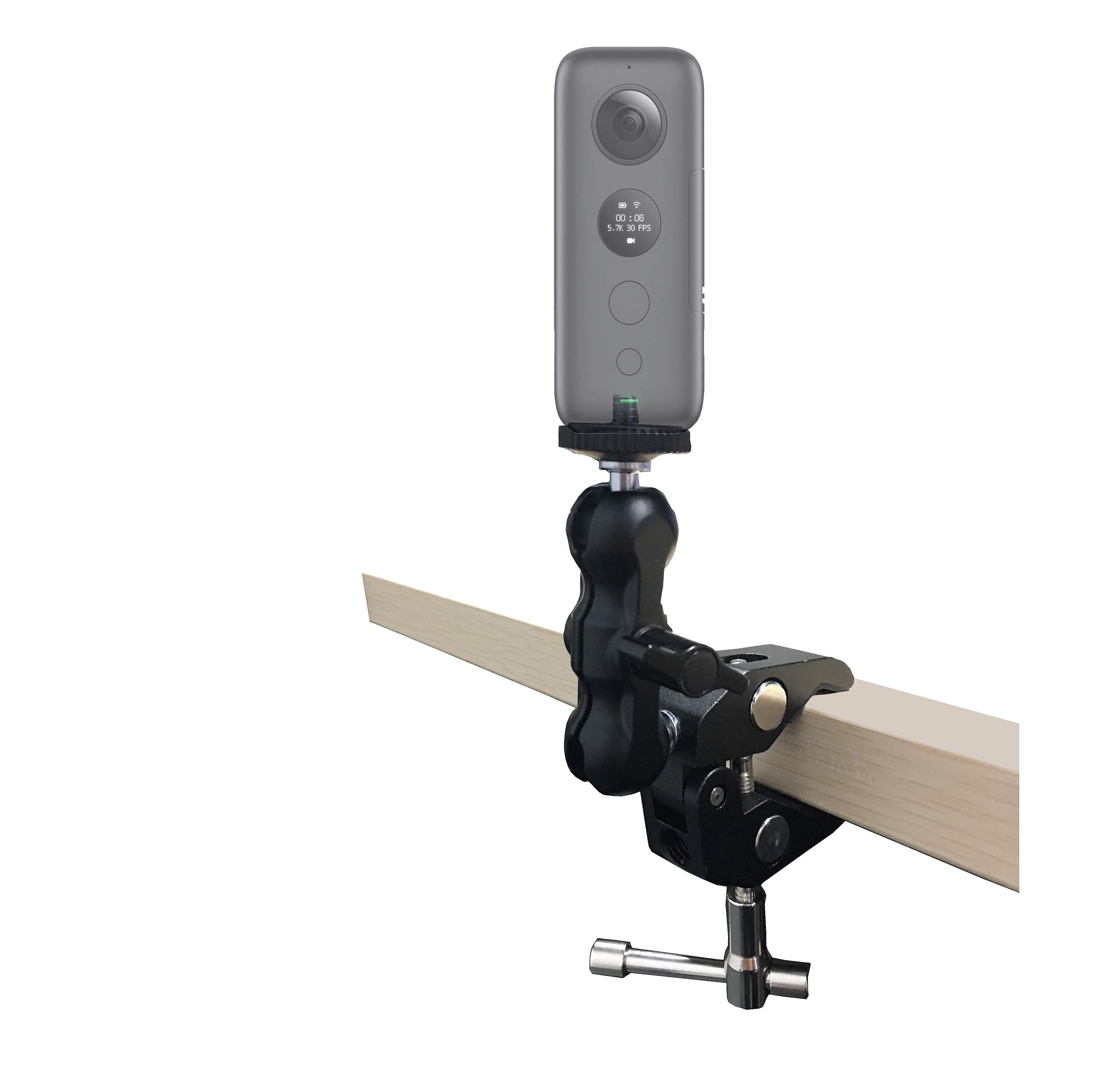 1/4 Universal Adjustable Super Clamp Mount for Insta360 One X by VGSION