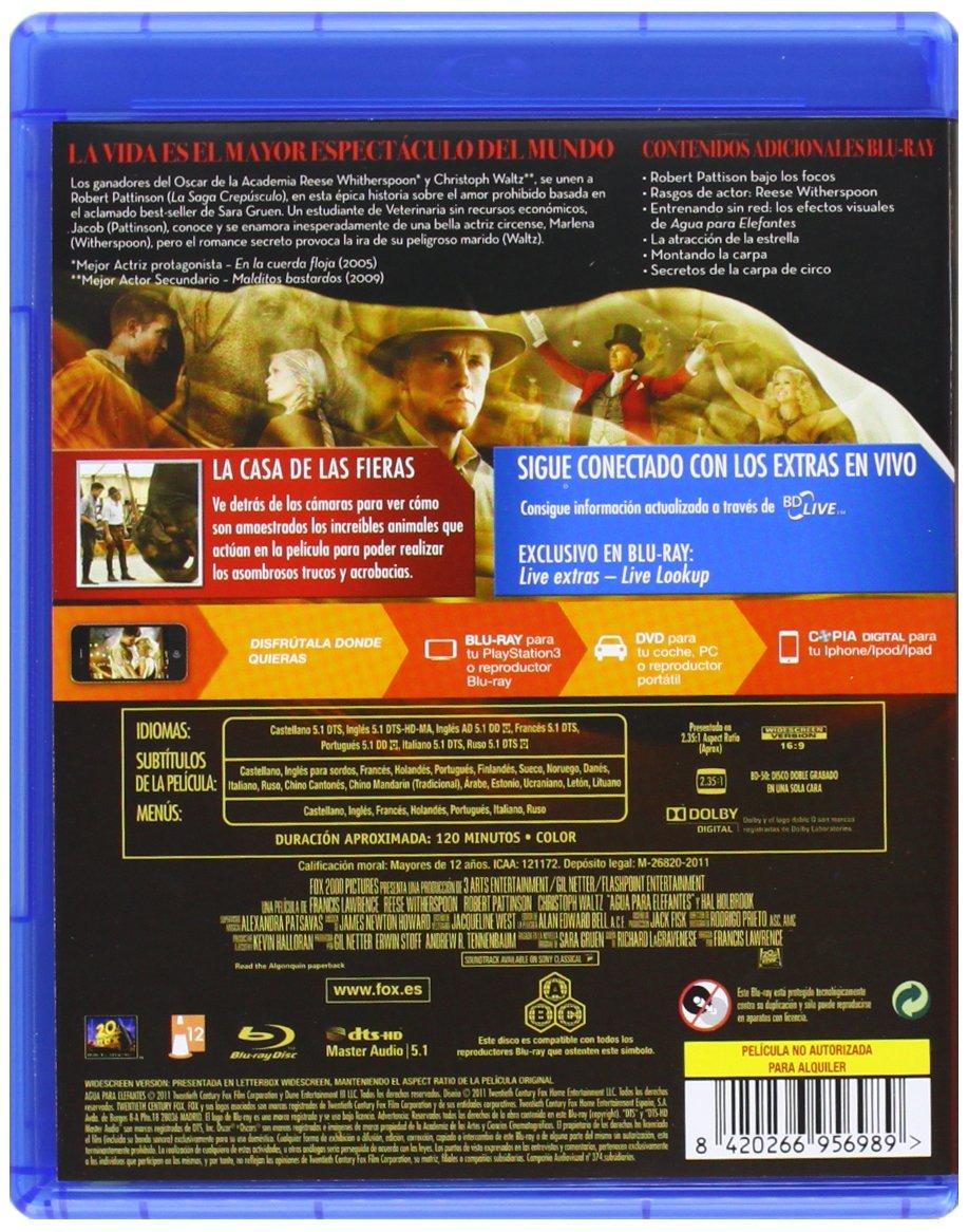 Amazon.com: Agua Para Elefantes (Blu-Ray) (Import Movie) (European Format - Zone B2) (2012) Reese Witherspoonrobert Pattin: Movies & TV