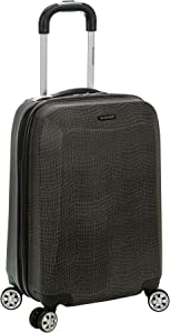Rockland Vision Hardside Spinner Wheel Luggage, Crocodile, Carry-On 20-Inch