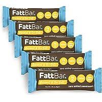 FattBar Keto Super Fats Bar (Caramel & Sea Salt, 5-Pack)   Natural and Delicious Keto Snacks   Low Net Carb, High Fiber, Low Sugar, Keto, Gluten Free, Sweetener Free, Vegan, Non-GMO