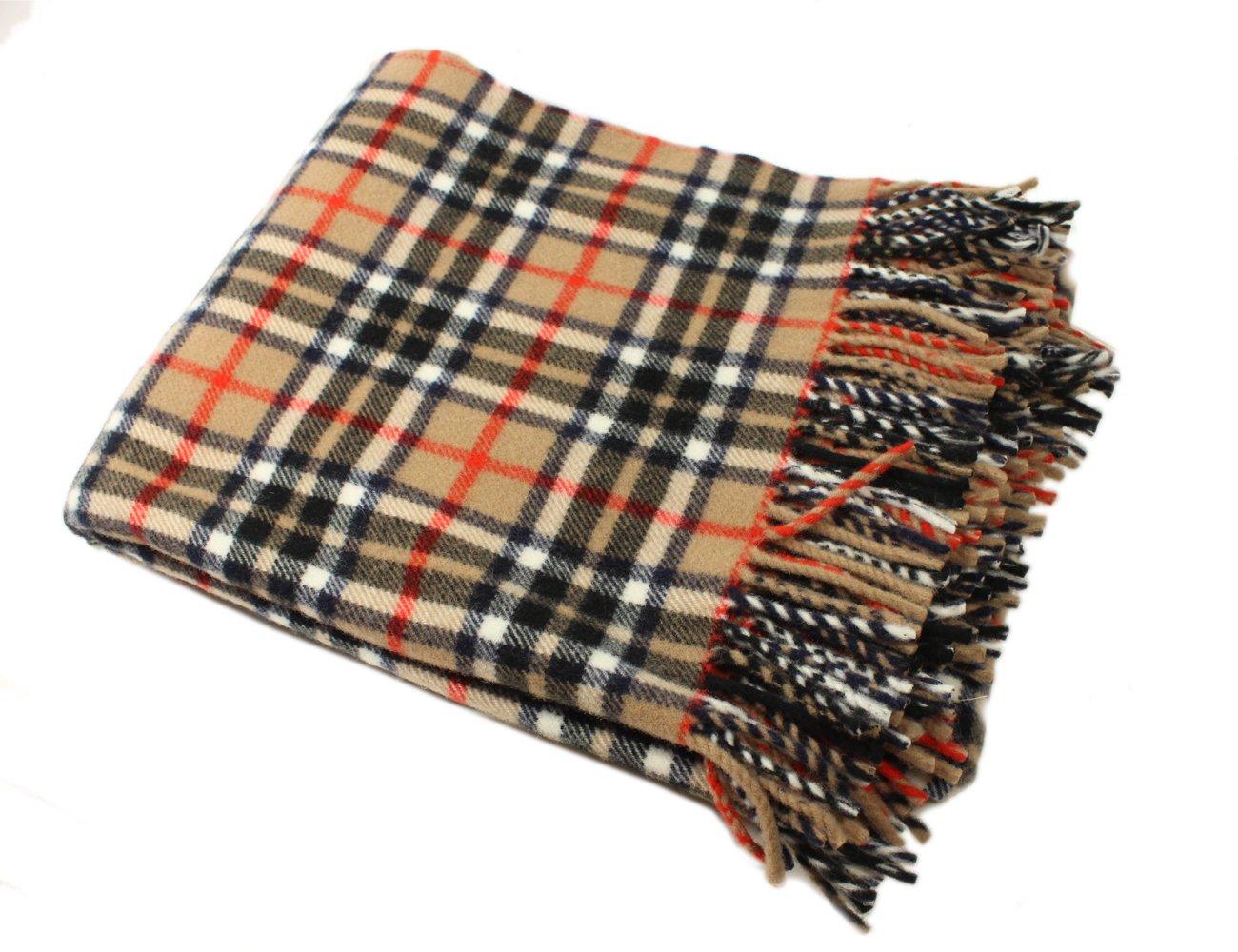 Tartan Blanket Thompson Design 52''x70'' 100% Wool Irish Made