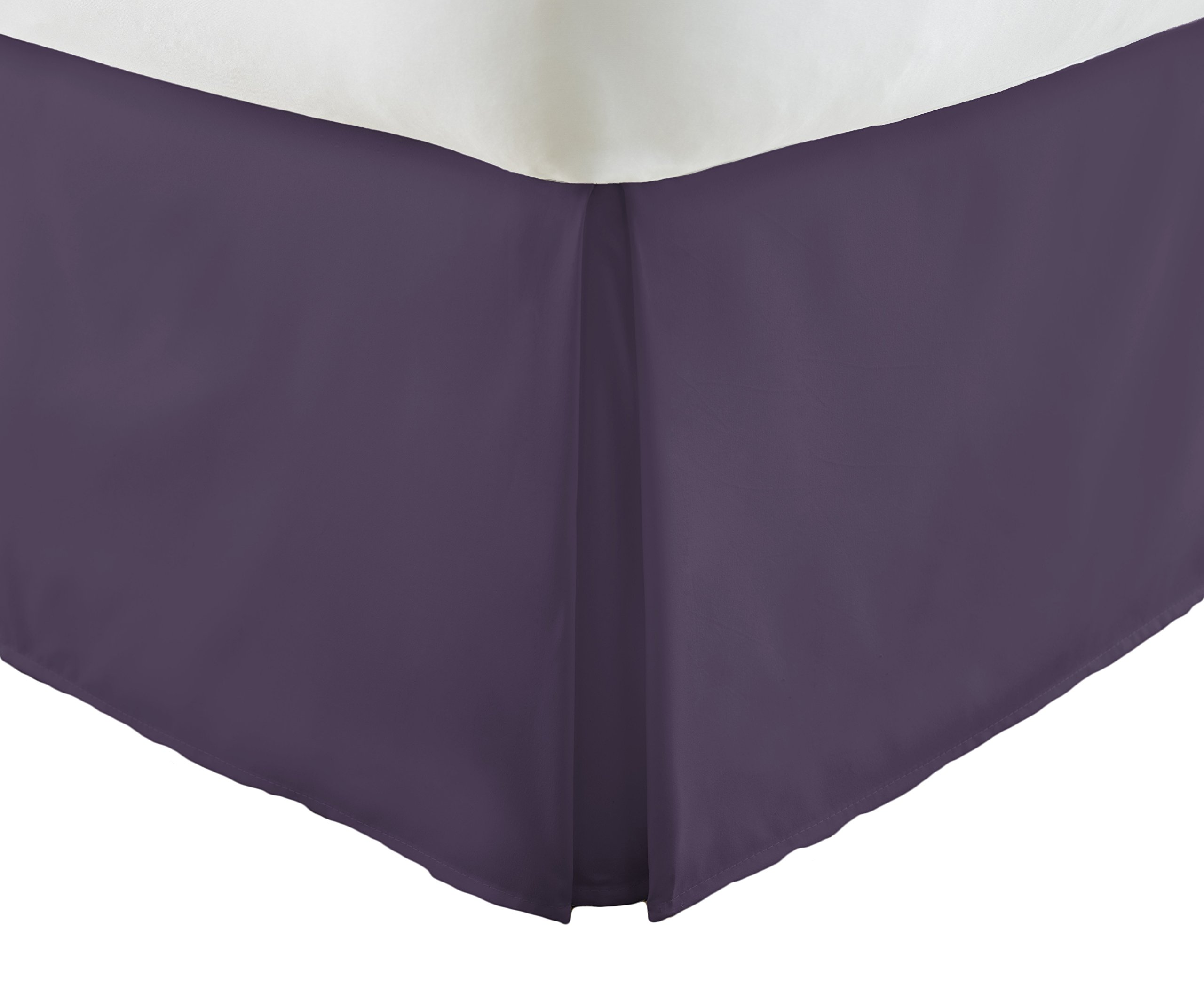 Becky Cameron Pleated Bed Skirt, Queen, Purple by Becky Cameron