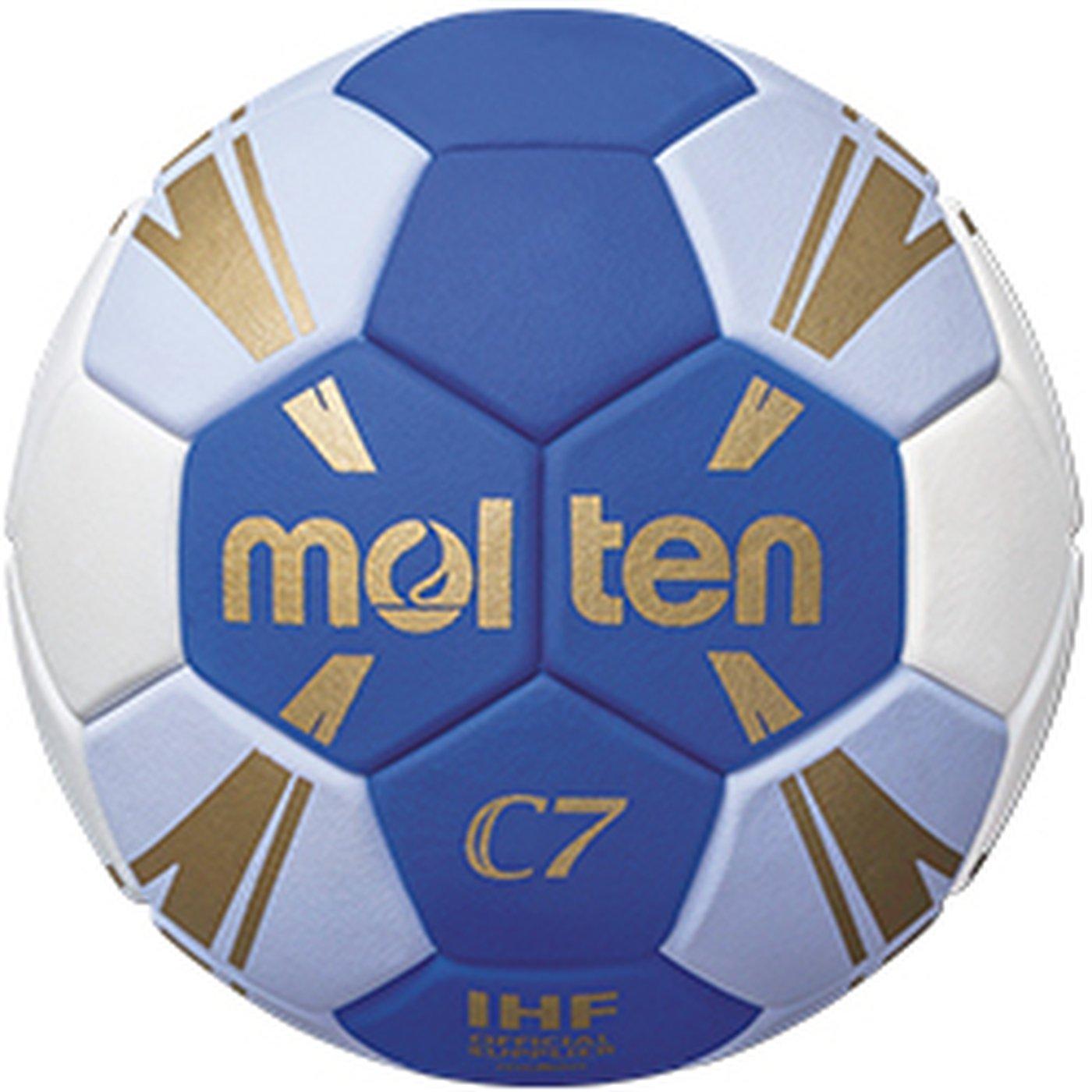 Molten h0C3500de BW de balonmano C7tamaño 0Azul de color blanco niños azul/blanco/oro, tamaño 0