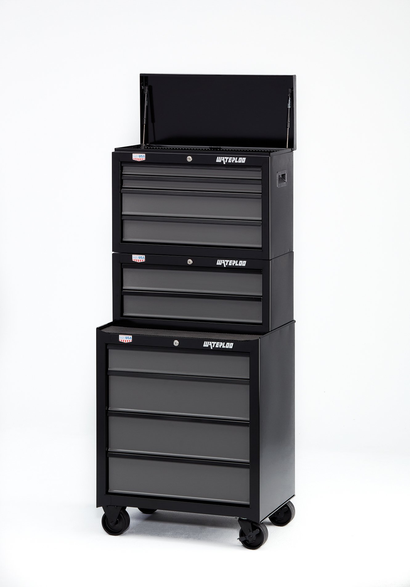 Waterloo W100 Series 2-Drawer Intermediate Tool Chest 26'' W - Designed, Engineered and Assembled in the USA