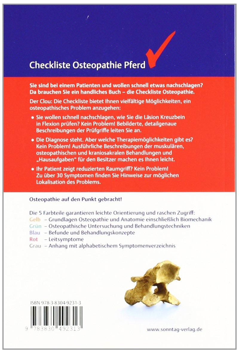 Checkliste Osteopathie Pferd: Amazon.de: Katja Eser: Bücher