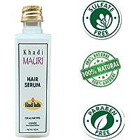 Khadi Mauri Herbal Hair Serum - Complete Hair Nourishment & Silky Soft Hair - SLES & PARABEN FREE - 100 ml