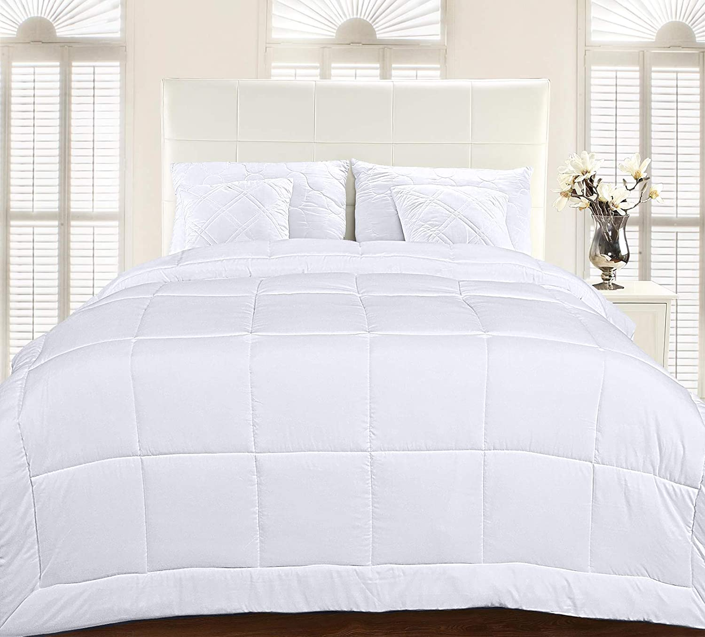 Utopia Bedding All Season Down Alternative Quilted Comforter Queen - Queen Duvet Insert with Corner Tabs - Machine Washable - Duvet Insert Stand Alone Comforter - Queen/Full - White: Home & Kitchen