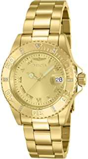 Invicta Womens 12820 Pro Diver Diamond-Accented Gold-Tone Watch