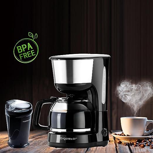 Aigostar - molinillo de cafe y cafetera goteo, negro,BPA ...
