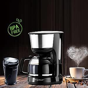 Aigostar - molinillo de cafe y cafetera goteo, negro,BPA free.: Amazon.es: Hogar