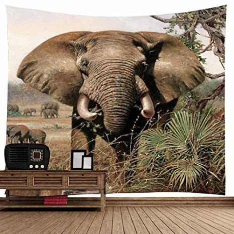 Amazon.com: POPPAP Elephant Tapestry Wall Hanging Decor Indian ...