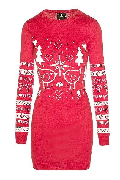 5d45b698d3 Brave Soul Ladies Penguin Polar Bear Reindeer Christmas Jumper Or Robin  Dress  Amazon.co.uk  Clothing