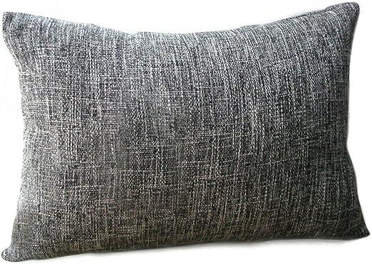 "Riverbyland Linen Decorative Throw Pillows Cover Dark Gray 9"" x 9"""