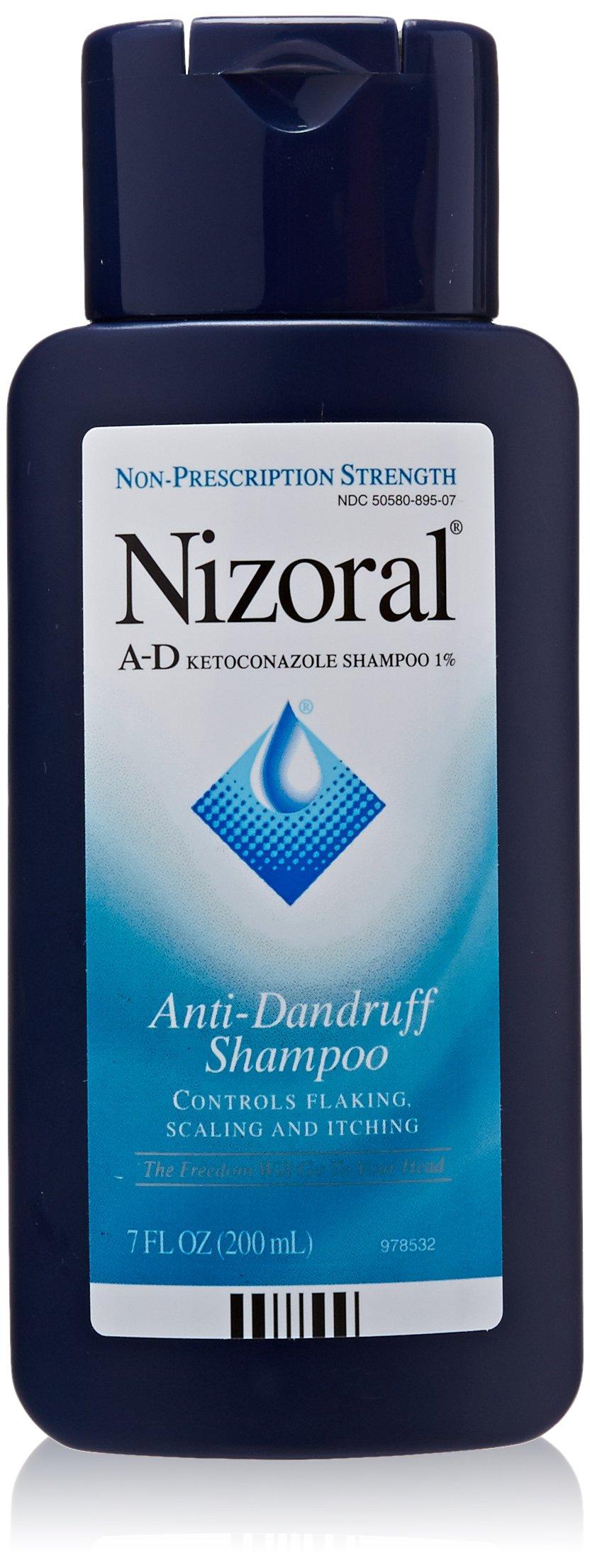 Nizoral A, D Anti, Dandruff Shampoo, 7 oz (Quantity of 2)