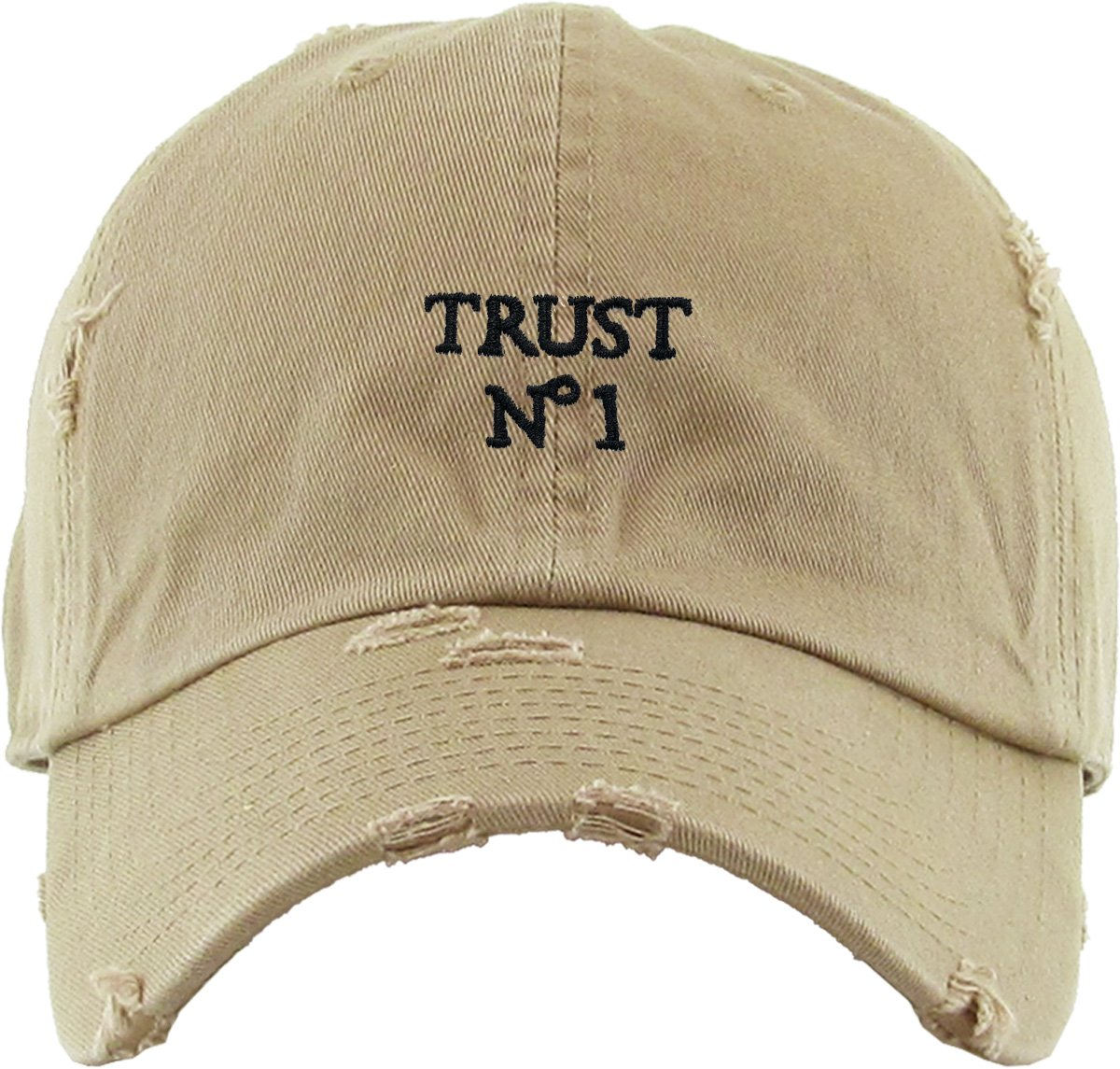 KBETHOS KBSV-055 KHK Trust No1 Vintage Distressed Dad Hat Baseball Cap Polo  Style   Shops   Clothing f23e4cddb192