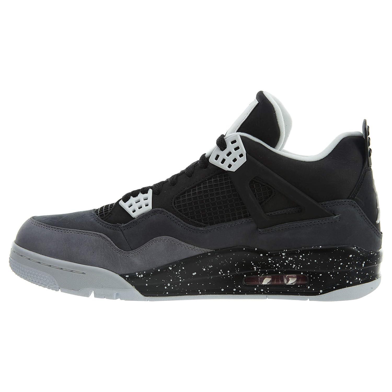 the best attitude b1373 278fd Amazon.com   Nike Mens Air Jordan 4 Retro Fear Pack Black Cool Grey Suede  Basketball Shoes Size 14   Basketball