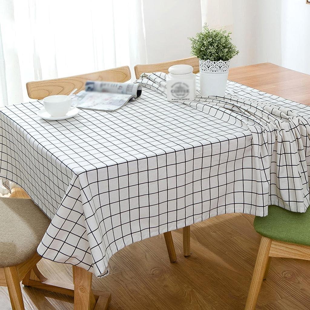 ZHUOBU Mantel de Lino Simple Mesa de Centro Mesa de Comedor Tela de algodón jardín refrescante: Amazon.es: Deportes y aire libre
