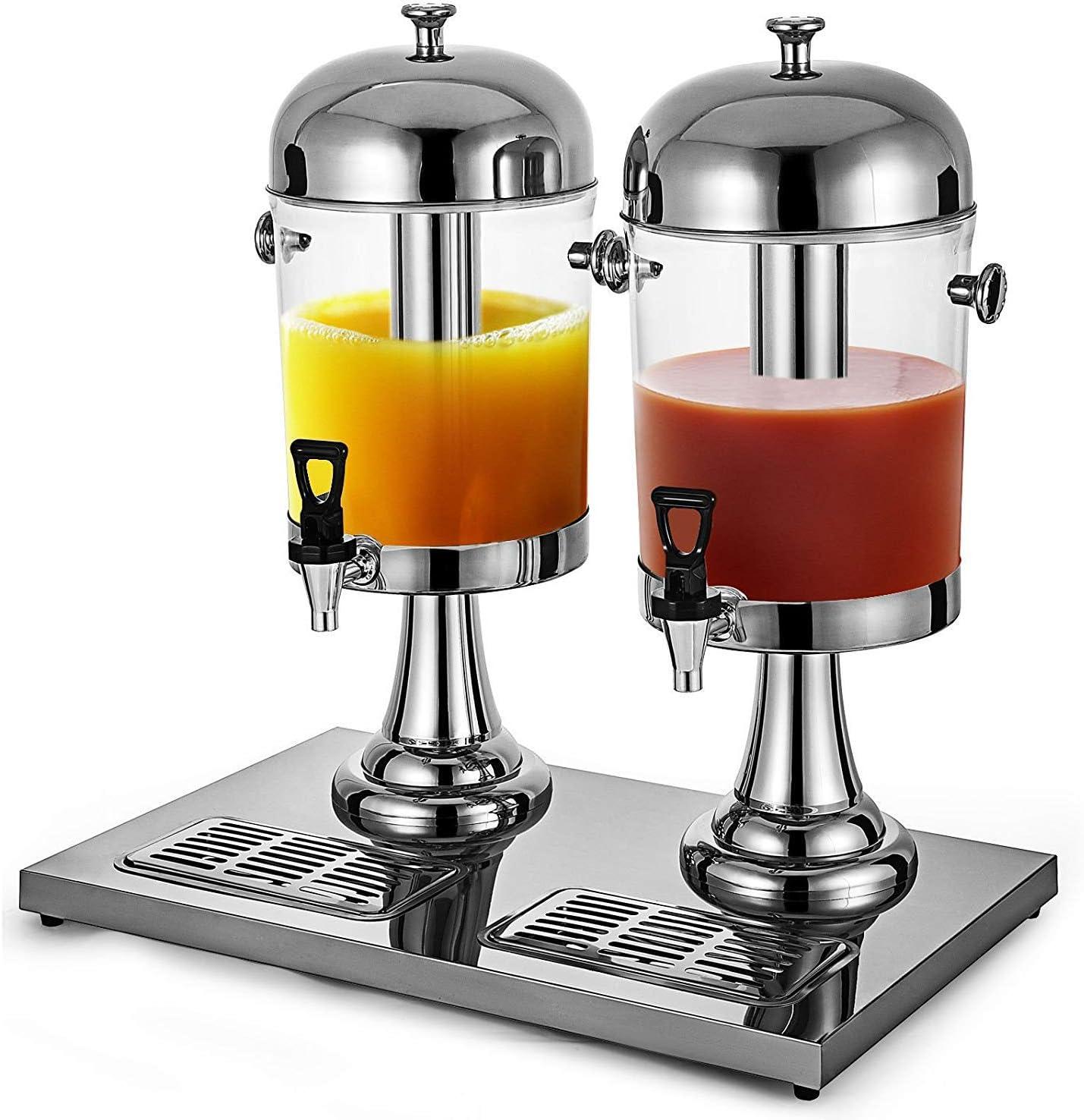 VEVOR 16L/4.2 Gallon Milk Cold Parties Restaurants Hotels Buffets, Juice Drink Dispenser