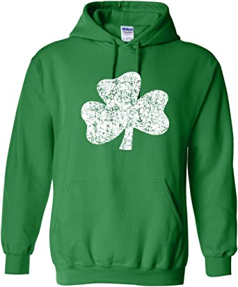 Patricks IRISH Patty/'s Faded Shamrock Women Hoodie Distressed Clover For St