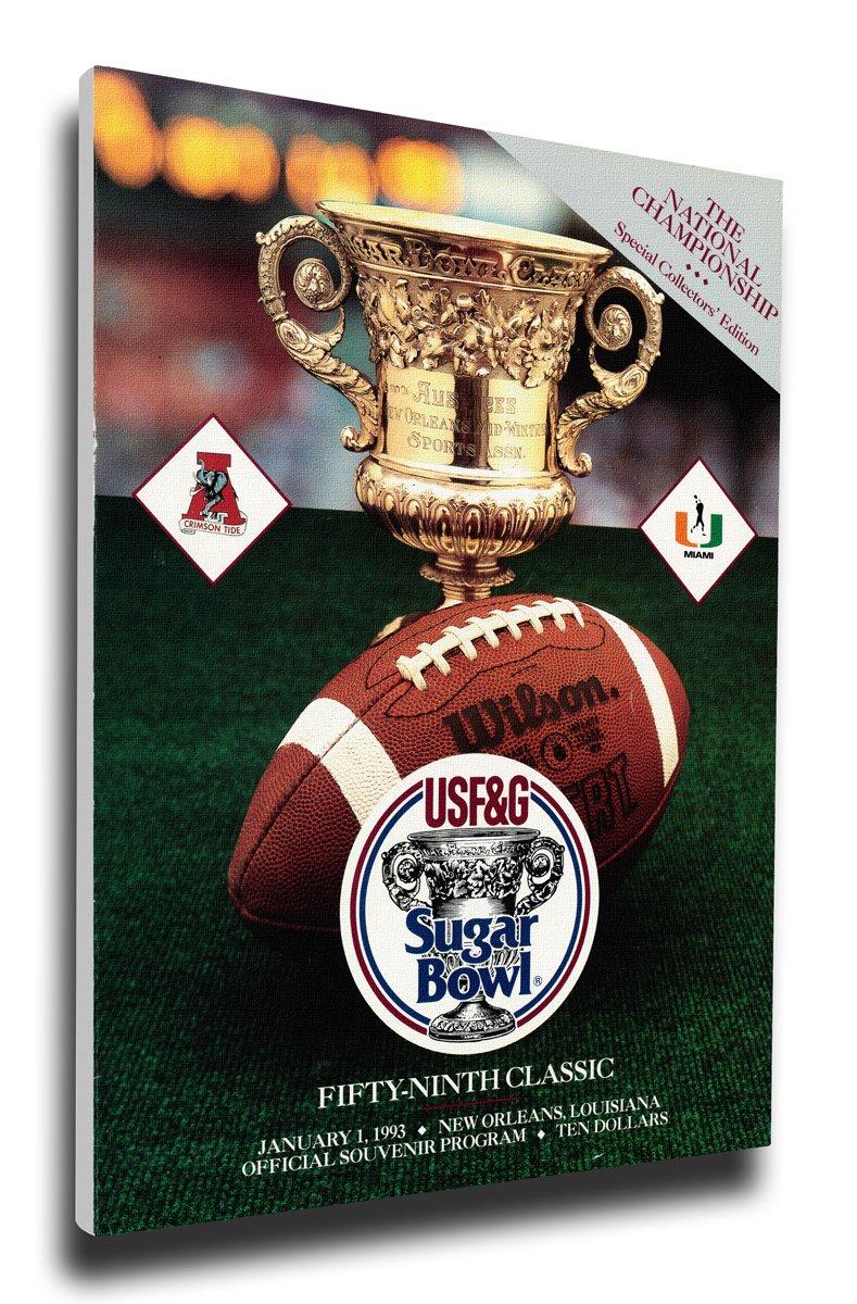 That 's Myチケット1993 Sugar Bowlプログラムカバーキャンバス – Alabama Crimson Tide   B07BVZJT8H