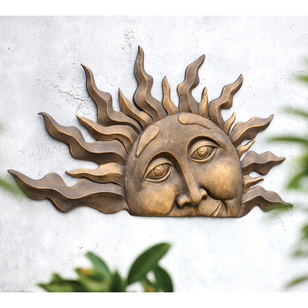 SPI Home 33109 Half Sun Wall Plaque by SPI Home