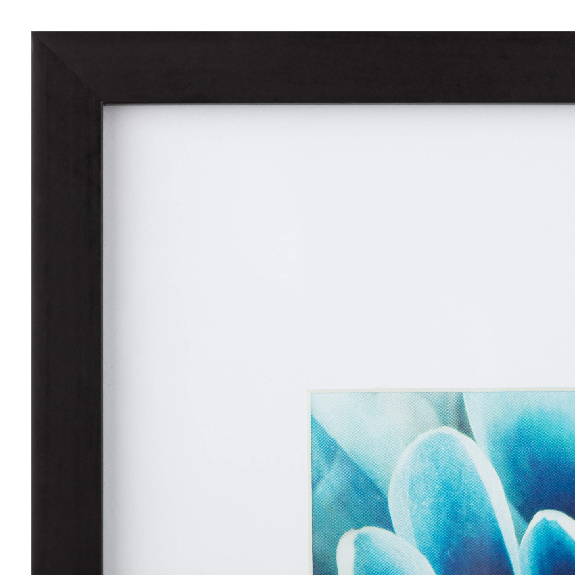 Snap 16x20 Black Wall Picture Frame with Single White Mat for 11x14 Picture by Snap (Image #2)