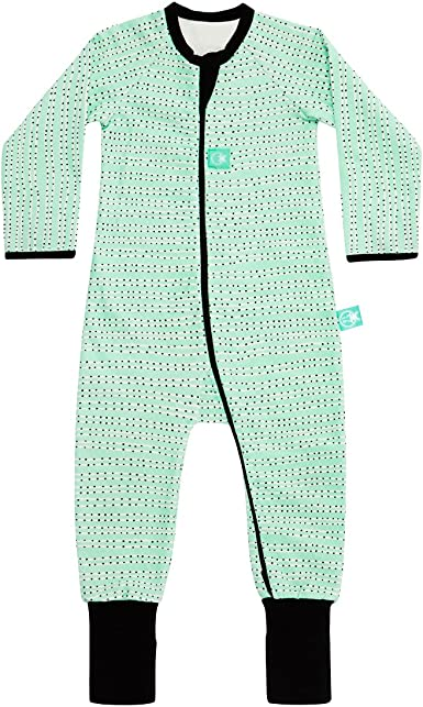 ergoPouch 1.0 TOG Layers Long Sleeve Bamboo 2-Way Zip Romper Organic Cotton