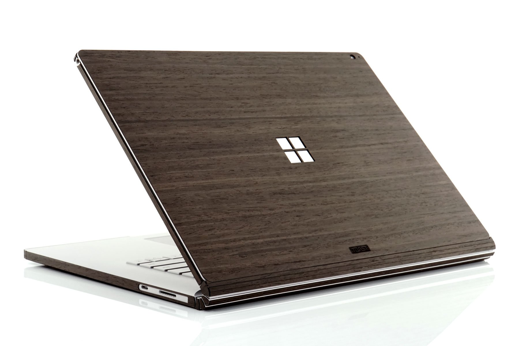 Toast MSB2-15-WIN-04+BOT Real Wood, Ebony Cover for Microsoft Surface Book 2 with Windows Logo Cutout, 15''