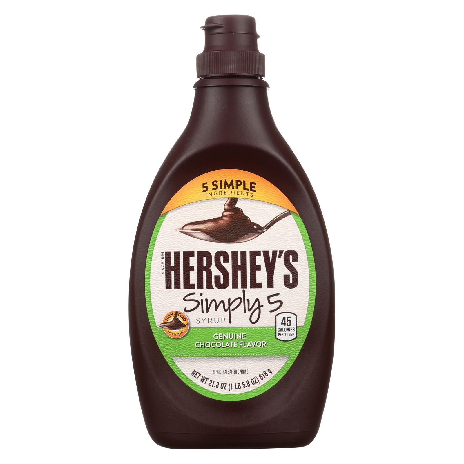 Heath & Heather Chocolate Syrup,Simply 5 21.8 Oz (Pack Of 12)