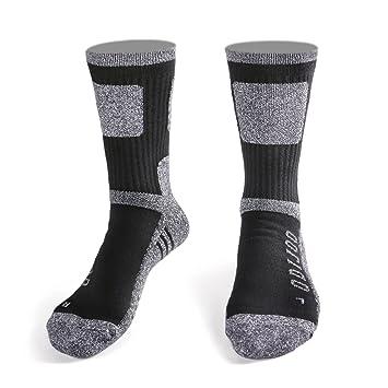 Calcetines de Senderismo para Hombres Talla 39-47 EU Calcetines de Trekking Acolchados Negros y Grises: Amazon.es: Deportes y aire libre