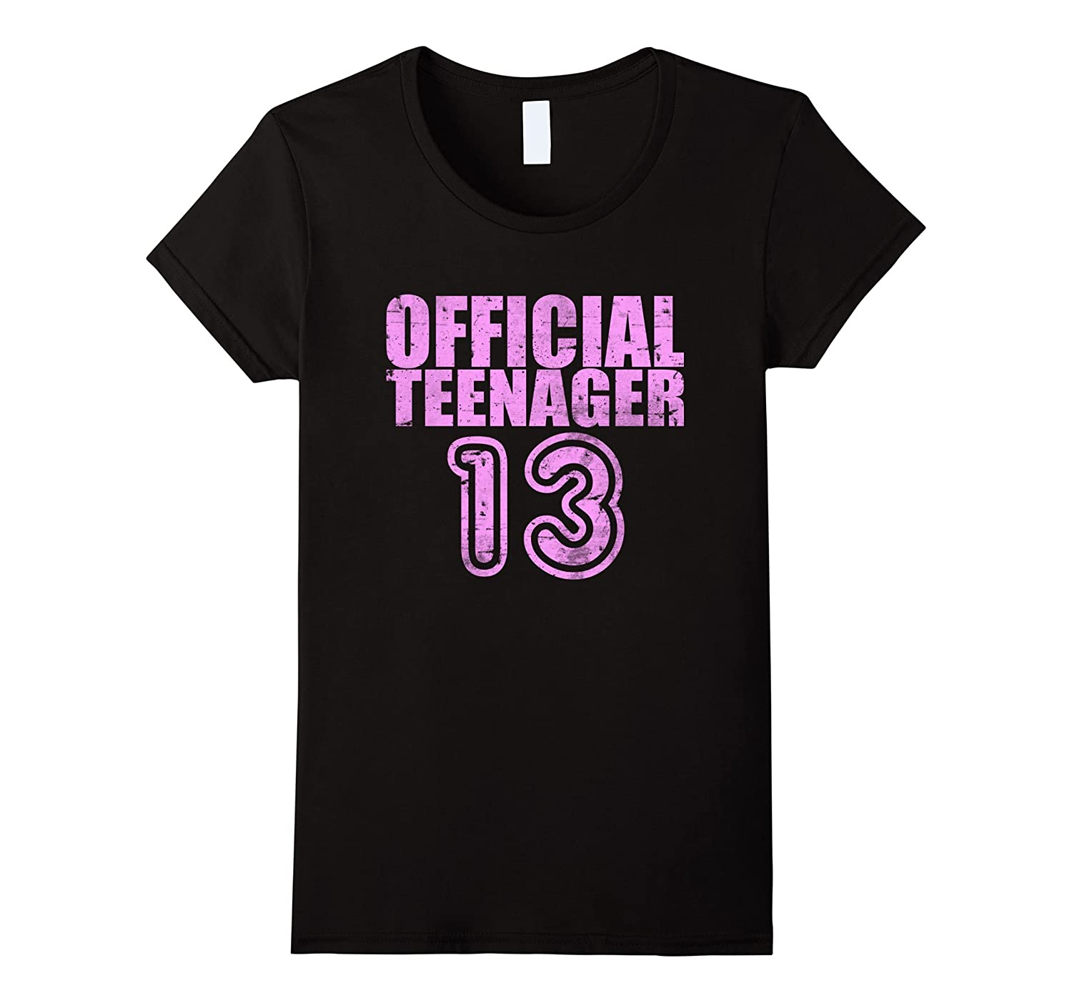 Womens Funny 13th Birthday T Shirt Official Girls Teenager Gift-RT