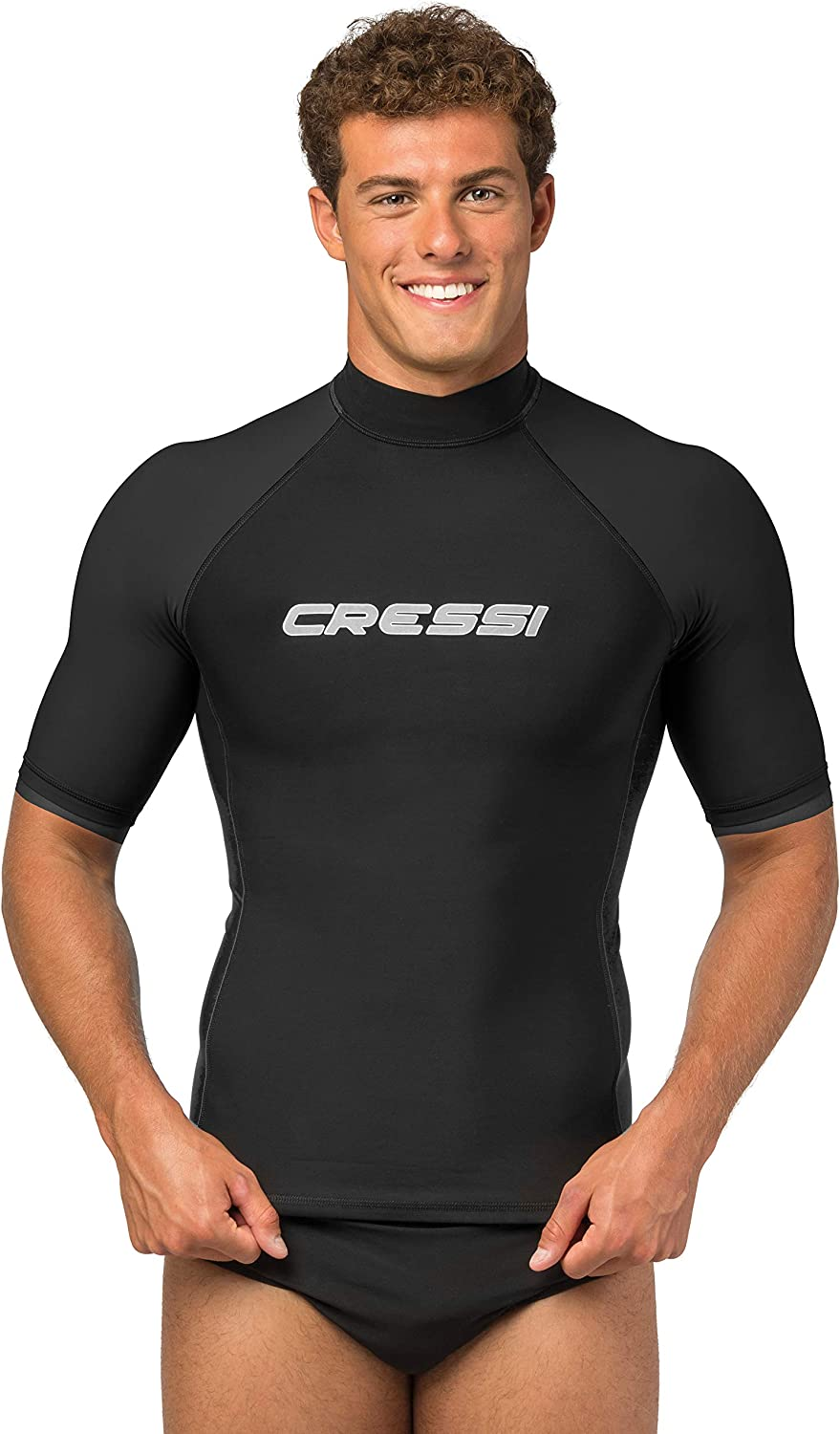 Cressi Men's Performance Dry-Fit Rash Guard for Swimming, Surfing, Diving and Water Activities - Keeps Body Warm - UV Sun Protection - Designed in Italy