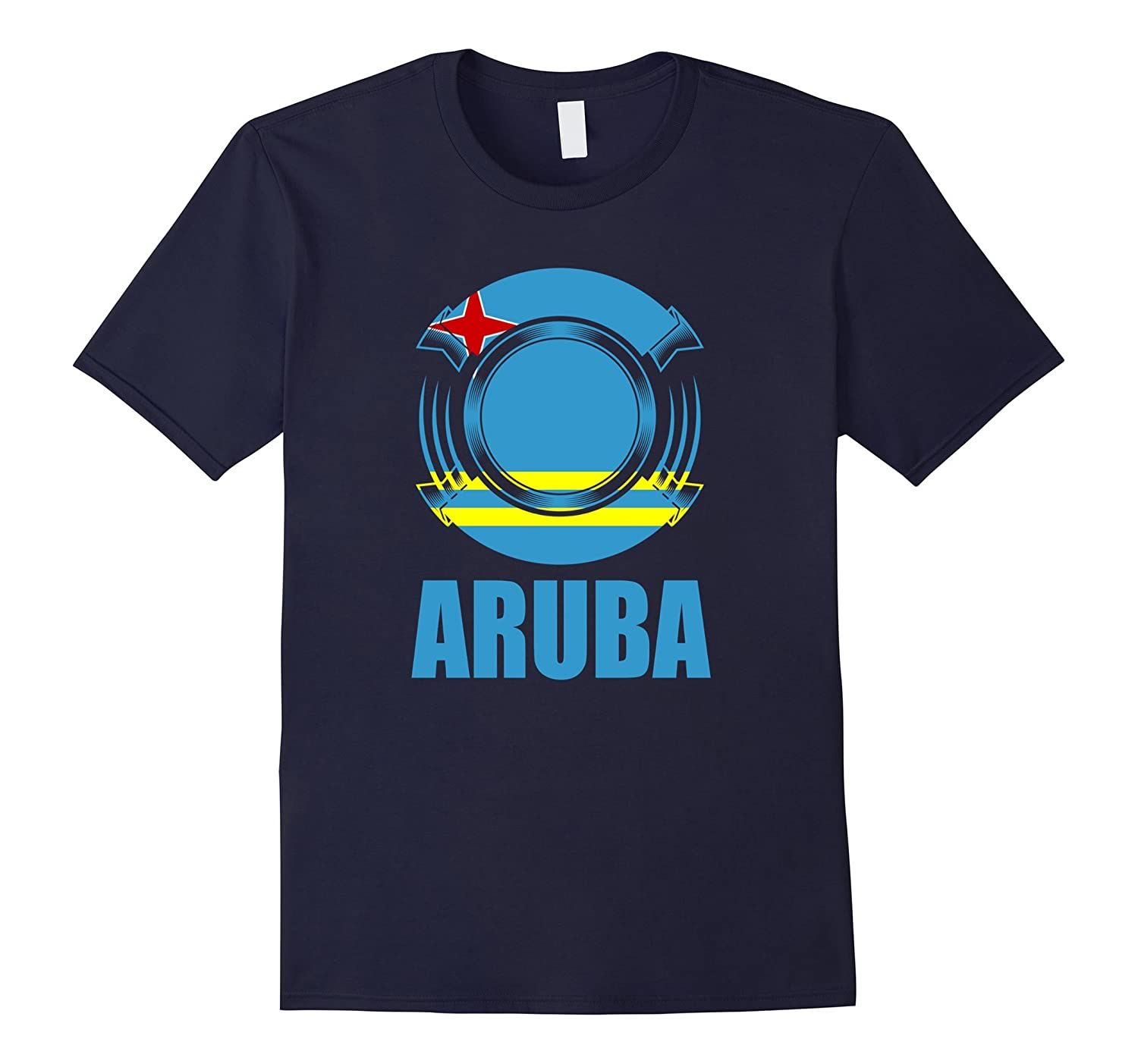 Aruba Flag Badge Pride Gift T-Shirt-TH
