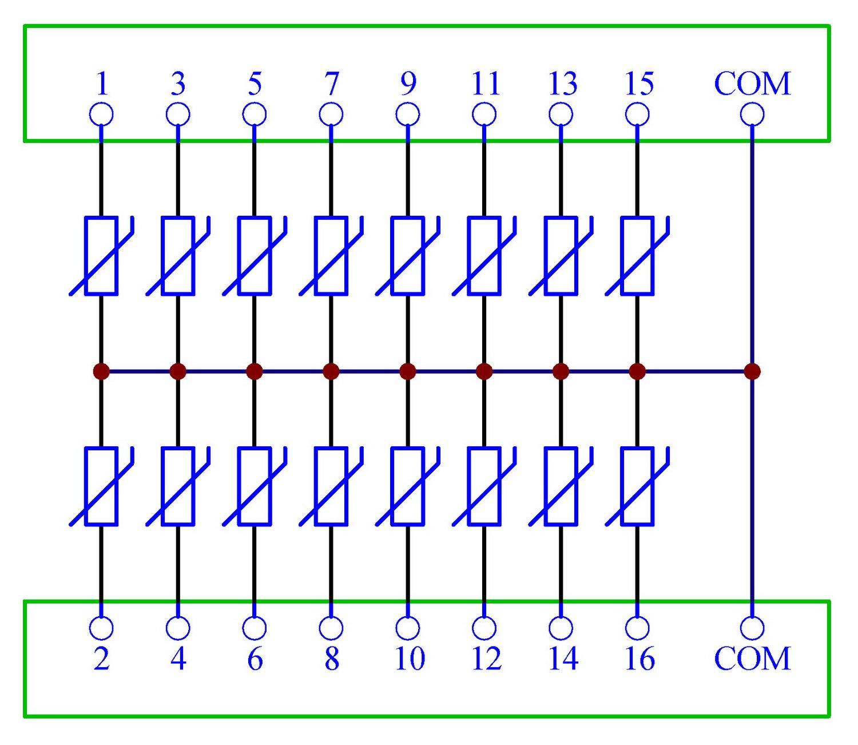 Chunzehui DIN Rail Mount 275V SIOV Metal Oxide Varistor Interface Module, 16 Channels Common. by Chunzehui (Image #2)