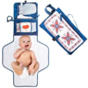 Royal Rusu Diaper Changing Clutch for Newborn Baby, Infant and Toddler, Lightweight Changing Pad Clutch with Foldable, Waterproof and Cushioned Baby Diaper Changing Mat, Insulated Bottle Pocket