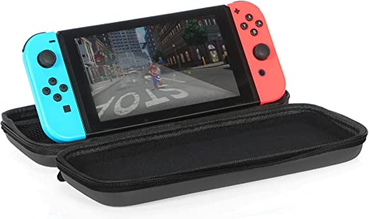 AmazonBasics - Funda de transporte para Nintendo Switch - Negro ...