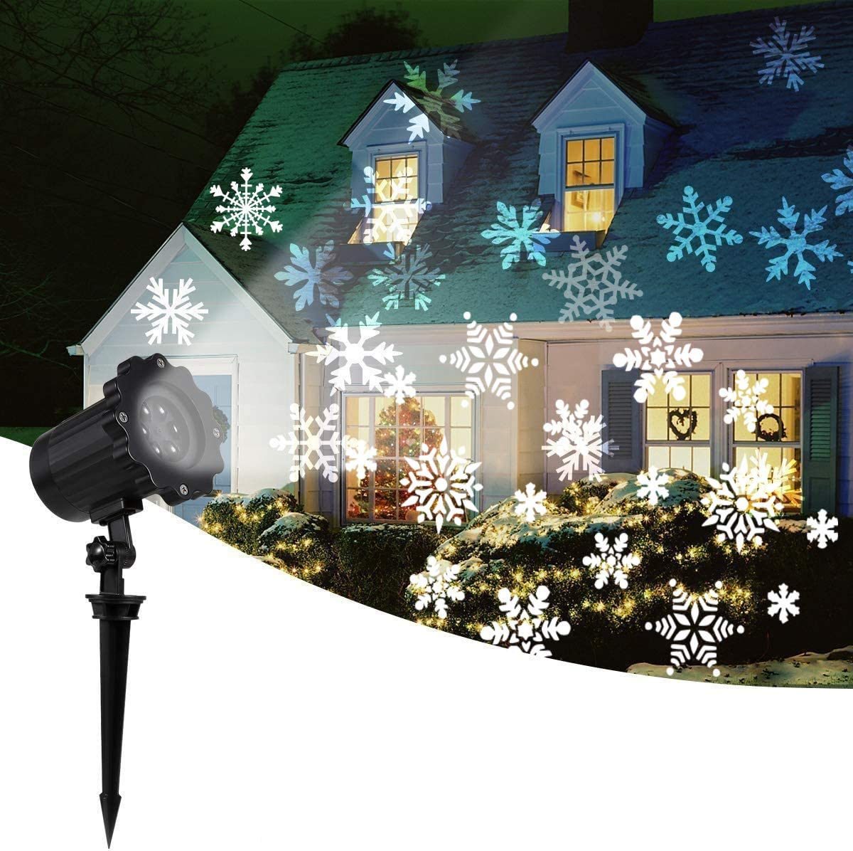 Amazon.com: 2020 New Moving Snowflake Lights, White Christmas