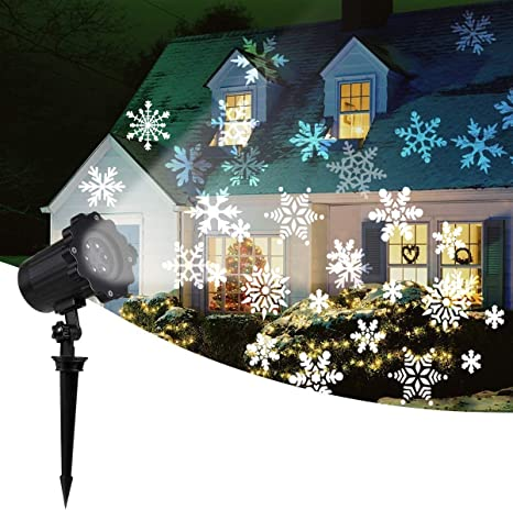 Home Christmas Lights 2020 Amazon.com: 2020 New Moving Snowflake Lights, White Christmas