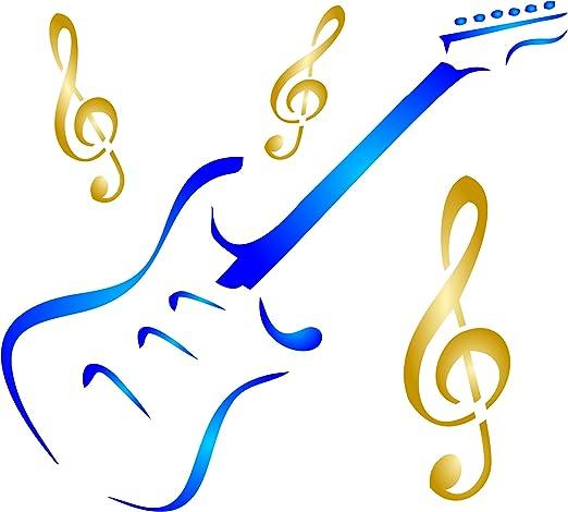 Plantilla de guitarra – Instrumento musical reutilizable Treble ...