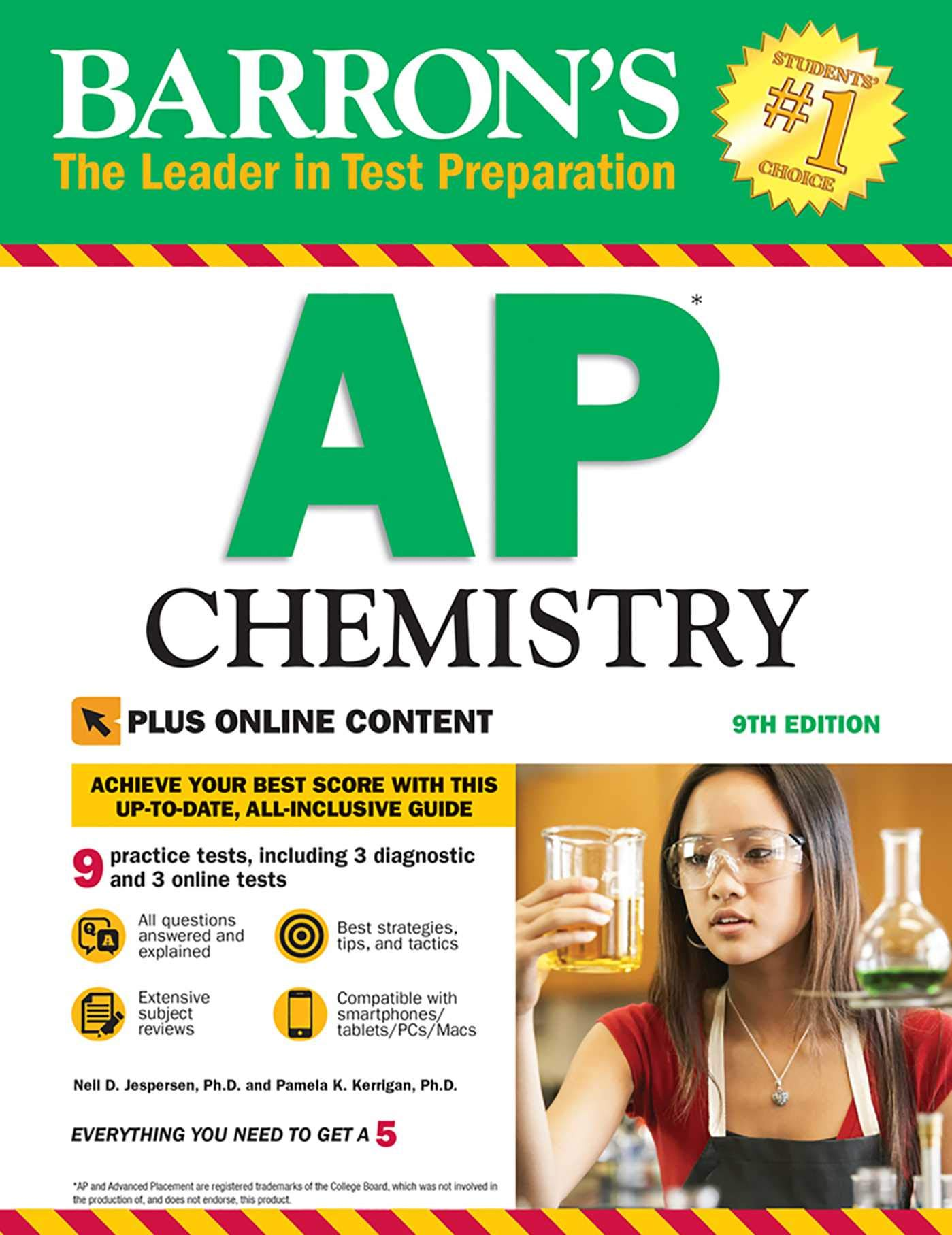 Barron's AP Chemistry with Online Tests (Barron's Test Prep) by Barrons Educational Series