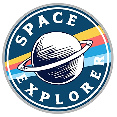Amazon.com: Ninja Pickle Space Explorer Space Badge Decal ...